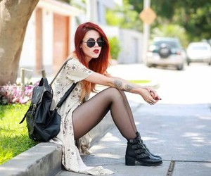 fashion, pretty girls, and red hair image