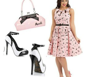 50s, outfit, and pin up girl image