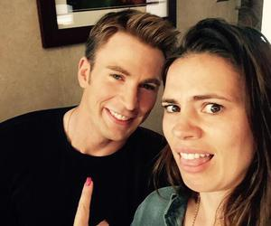 chris evans, captain america, and hayley atwell image
