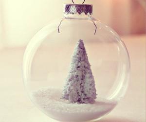 christmas, snow, and christmas tree image