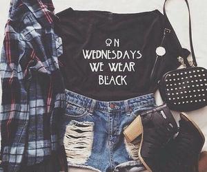 black, grunge, and shorts image