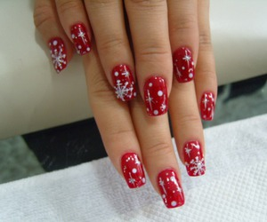 nail, christmas nails, and nail art image