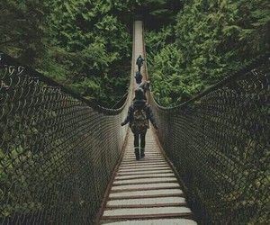 travel, adventure, and bridge image