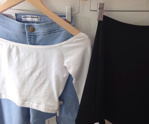 clothes, american apparel, and pale image
