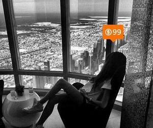 apartment, b&w, and city image