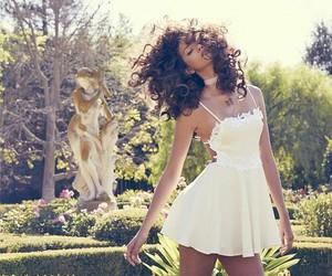 dress, white, and rihanna image