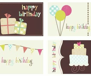 cards, snailmail, and happy birthday image