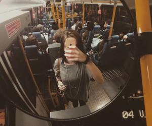 bus and girl image