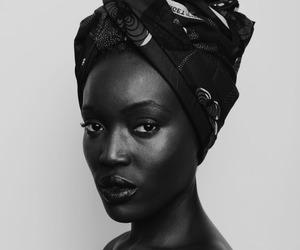 beautiful, turban, and black woman image