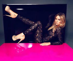 heels, black, and pink image