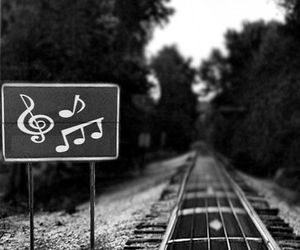 music, guitar, and train image