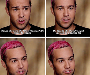 equality, pete wentz, and pink hair image