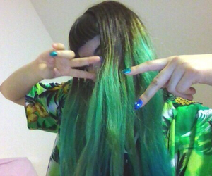 grunge, pale, and green image