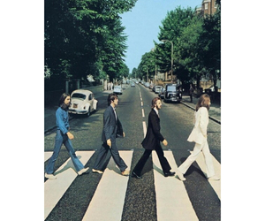 the beatles, abbey road, and vintage image