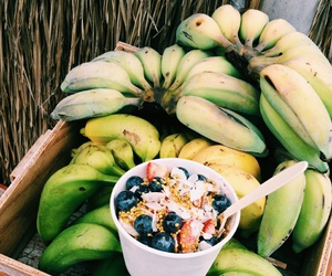 bananas, fit, and fruit image