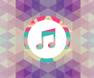 music, pink, and wallpaper image