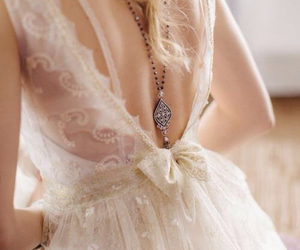 dress, wedding, and bridal image