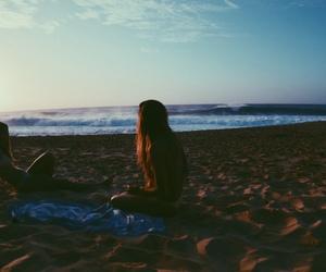 beach, friend, and vingate image