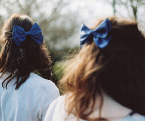 girl, hair, and bow image