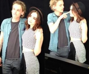 Jamie Campbell Bower, lily collins, and jace image