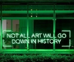 green, neon, and art image