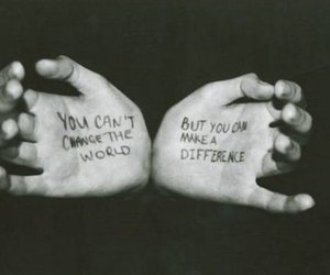 hands, text, and change image
