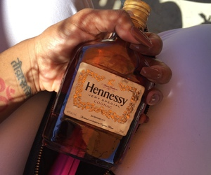 hennessy, tattoo, and liquor image