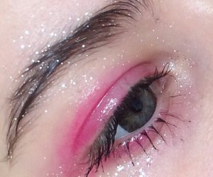 pink, eye, and makeup image