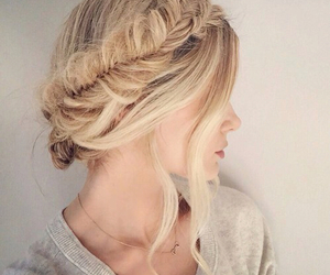 blonde, braid, and pretty image