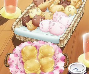 anime, food, and sweet image