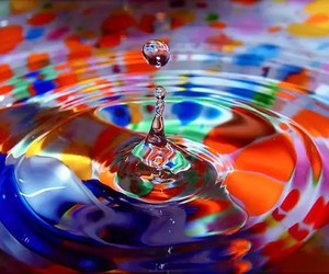 water, colors, and drop image