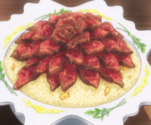 anime food and shokugeki no souma image