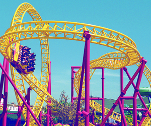 rollercoaster, photography, and fun image