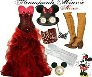 cosplay, minnie mouse, and steampunk image