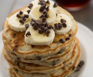 banana, pancakes, and food image