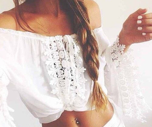 fashion, white, and hair image
