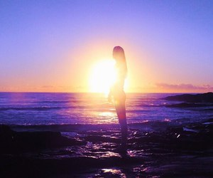 beautiful, purple, and sea image