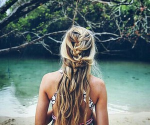 beach, pretty hair, and blonde image