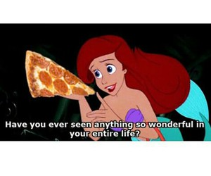 pizza, ariel, and food image