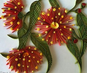colourful, flowers, and quilling image