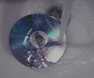 grunge, water, and cd image