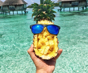 summer, pineapple, and sea image