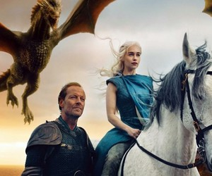 dany, dragons, and knight image
