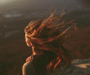 girl, melancholy, and redhead image