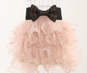 bow, fashion, and skirt image