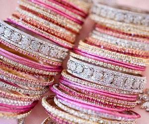 pink, bracelet, and bangles image