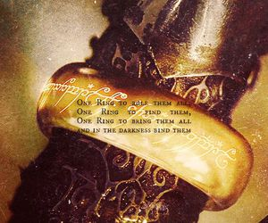 LOTR, the one ring, and lord of the rings image