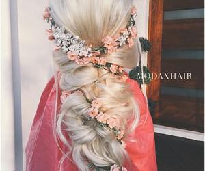 hair, blonde, and wedding image