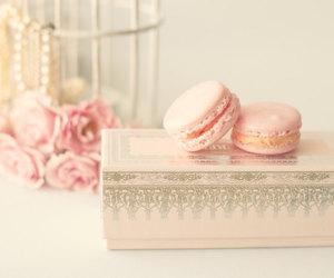 macaroons, pastel, and pink image