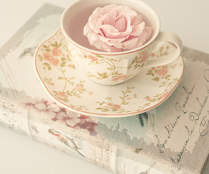 pink, teacup, and vintage image